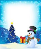 Christmas snowman theme image 2 — Stock Vector
