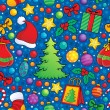 Christmas seamless background 3 — Stock vektor