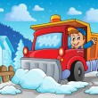 Snow plough theme image 2 — Stock Vector #34838025
