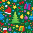 Christmas seamless background 2 — Stock vektor