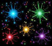 Fireworks theme image 2 — Stock Vector