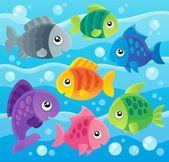 Fish theme image 7 — Vector de stock