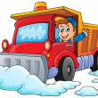 Snow plough theme image 1 — Stock Vector