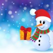 Christmas snowman theme image 3 — Stock Vector