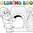Coloring book Santa Claus theme 9 — Stock Vector