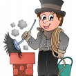 Happy chimney sweeper — Stock Vector #36590259