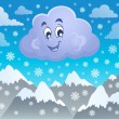 Winter cloud theme image 2 — Stock Vector