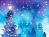 Tópico de silhueta de árvore de Natal 4 — Vetor de Stock