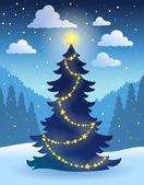 Christmas tree theme 5 — Stock Vector