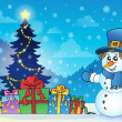 Christmas snowman theme image 4 — Stock Vector #37329693