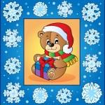 Christmas topic greeting card 1 — Stock Vector