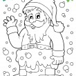Coloring book SantClaus topic 9 — Stock Vector #37330023