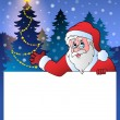 Small frame with Santa Claus 2 — Stock Vector