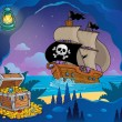 Pirate cove theme image 7 — Stok Vektör #38858971