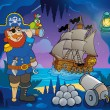 Pirate cove theme image 5 — Stok Vektör #38859019