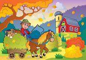 Autumn farm theme 4 — Stock Vector