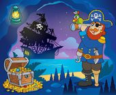 Pirate cove theme image 3 — Stok Vektör