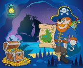 Pirate cove theme image 4 — Stok Vektör