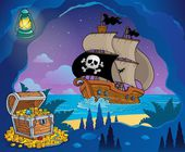 Pirate cove theme image 7 — Stok Vektör