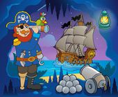 Pirate cove theme image 5 — Stok Vektör
