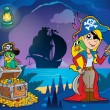 Pirate cove theme image 9 — Stok Vektör #40210159