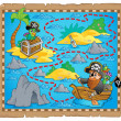 Stock Vector: Treasure map theme image 7