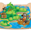 Treasure map topic image 1 — Stock Vector #40210265
