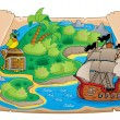 Treasure map topic image 6 — Stock Vector #40210377