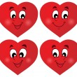 Valentine hearts thematic set 1 — Vector de stock  #40210401