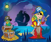 Pirate cove theme image 9 — Stok Vektör