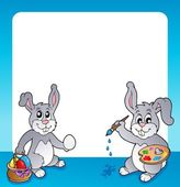 Frame with Easter bunny topic 2 — Stock Vector