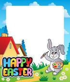 Frame with Easter bunny topic 5 — Stock Vector