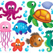 Various marine animals set 1 — Stock Vector #47362311