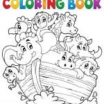 Coloring book Noahs ark theme 1 — Stock Vector #47365309