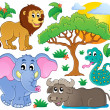 Cute African animals collection 2 — Stock Vector #47365333