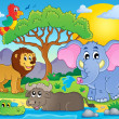 Cute African animals theme image 9 — Stock Vector #47365425