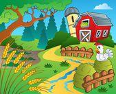 Farm theme with wheat — Stock Vector