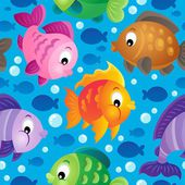 Fish theme seamless background 2 — Stock Vector