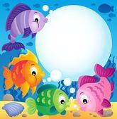 Fish topic image 1 — Vector de stock