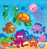 Image with undersea theme 7 — Stock Vector