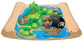 Pirate map theme image 2 — Stock Vector
