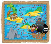 Pirate map theme image 3 — Stock Vector