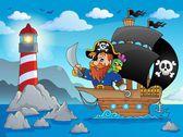 Pirate ship theme image 2 — Stock Vector