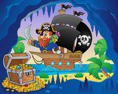 Pirate ship theme image 3 — Stock Vector