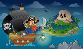 Pirate ship theme image 4 — Stock Vector
