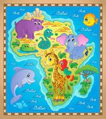 Africa map theme image 2 — Stock Vector