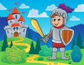 Knight theme image 1 — Stock Vector