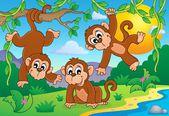 Monkey theme image 1 — Stock Vector