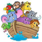 Noahs ark theme image 1 — Stock Vector