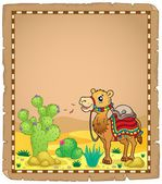 Parchment with camel 1 — Stock Vector